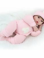 Недорогие -NPK DOLL Куклы реборн Дети 50cm Винил как живой Милый стиль Безопасно для детей Взаимодействие родителей и детей моделирование Милый Non
