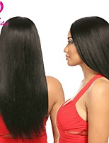 Недорогие -Бразильские волосы Прямой силуэт Ткет человеческих волос 4 предмета 0.2