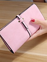 cheap -Bags PU Wallet Tiered for Casual All Seasons Blushing Pink Gray