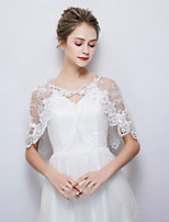 cheap -Sleeveless Lace Wedding Party / Evening Women's Wrap With Rhinestone Lace-up Capelets