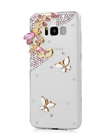 cheap -Case For Samsung Galaxy Rhinestone Back Cover Butterfly Hard PC for S8 Plus S8 S7 edge S7