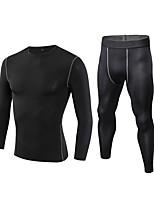 abordables -Homme Tee-shirt et Pantalons de Course Manches Longues / Pantalon long Respirabilité Ensemble de Vêtements pour Jogging / Fitness