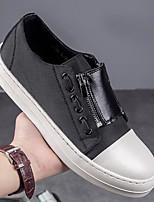 Недорогие -Муж. обувь Полиуретан Весна Осень Удобная обувь Кеды для Повседневные Черный