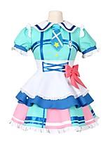abordables -Inspiré par Aime la vie Autre Manga Costumes de Cosplay Costumes Cosplay Autre Manches Courtes Robe Chaussettes Nœud papillon Plus