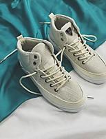 abordables -Homme Chaussures Tissu Printemps Automne Confort Basket pour Décontracté Blanc Noir Kaki