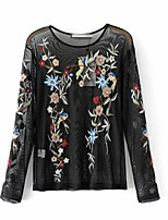 cheap -Women's Chic & Modern Slim T-shirt - Floral