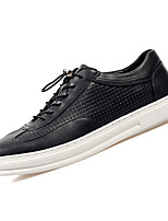 cheap -Men's Shoes Nappa Leather Spring Fall Comfort Sneakers for Outdoor White Black