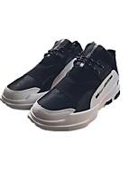 Недорогие -Муж. обувь Полиуретан Зима Весна Удобная обувь Кеды для Повседневные Черный Красный Черно-белый