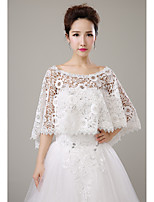 cheap -Sleeveless Lace Wedding Party / Evening Women's Wrap With Hole Capes