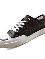 Недорогие -Муж. обувь Полиуретан Весна Осень Удобная обувь Кеды для Повседневные Серый Коричневый Черный/Красный