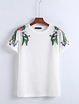 cheap -Women's Street chic T-shirt - Floral, Basic