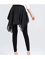 abordables -Danse latine Bas Femme Entraînement Coton Ceinture / Ruban Taille moyenne Châle