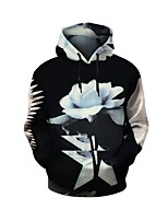 cheap -Men's Long Sleeves Hoodie - Floral Hooded