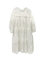 cheap -Girl's Daily Solid Dress, Cotton Polyester Spring Summer Long Sleeves Simple Active White