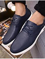 Недорогие -Муж. обувь Полиуретан Весна Осень Удобная обувь Туфли на шнуровке для Повседневные Черный Темно-синий Коричневый