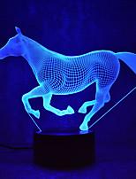 Недорогие -1 комплект 3D ночной свет USB Творчество / Сенсорный датчик / С портом USB <5 V