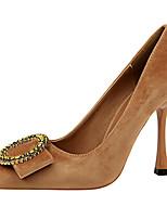 abordables -Femme Chaussures Fourrure Printemps Automne Escarpin Basique Gladiateur Chaussures à Talons Talon Aiguille Bout pointu Paillette Brillante