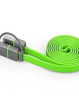Недорогие -Подсветка Адаптер USB-кабеля Компактность Быстрая зарядка Назначение Motorola iPhone 100 cm Пластик