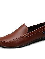 Недорогие -Муж. обувь Кожа Наппа Leather Весна Лето Мокасины Удобная обувь Мокасины и Свитер для Повседневные Офис и карьера Черный Коричневый