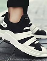 Недорогие -Муж. обувь Ткань Весна Осень Удобная обувь Кеды для Повседневные Белый Черный Синий
