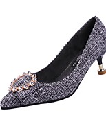 cheap -Women's Shoes Synthetic Spring Summer Comfort Heels Stiletto Heel Pointed Toe Sparkling Glitter for Casual Office & Career Gray Green