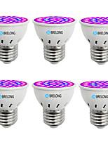 cheap -BRELONG® 6pcs 1W 300lm E14 GU10 MR16 E26 / E27 Growing Light Bulb 36 LED Beads SMD 2835 Blue 220-240V