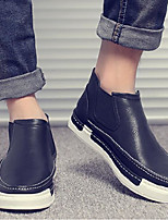 Недорогие -Муж. обувь Полиуретан Весна Осень Удобная обувь Кеды для Повседневные Черный Серый Кофейный