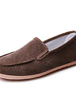 cheap -Men's Shoes Fabric Spring Fall Comfort Loafers & Slip-Ons for Casual Black Coffee Green