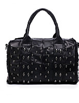 cheap -Women's Bags Sheepskin Tote Rivet for Event/Party Casual All Seasons Black