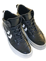 cheap -Men's Shoes Microfibre Winter Fall Fluff Lining Sneakers for Casual Outdoor Black
