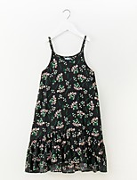 cheap -Girl's Daily Floral Dress Spring Summer Sleeveless Simple Rainbow
