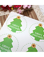 cheap -Others Stickers, Labels & Tags - 6 Christmas Circular Stickers All Seasons