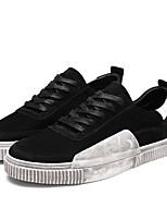 abordables -Homme Chaussures Croûte de Cuir Printemps Automne Confort Basket pour Décontracté Noir Gris Kaki