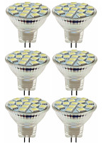 abordables -SENCART 6pcs 80W 5W 260lm MR11 Spot LED MR11 15 Perles LED SMD 5060 Décorative Blanc Chaud Blanc Froid 12V