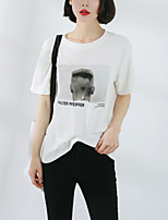 cheap -Women's Street chic T-shirt - Letter