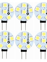 cheap -SENCART 6pcs 1.5W 60-80lm G4 LED Bi-pin Lights T 6 LED Beads SMD 5050 Decorative Warm White White 12V