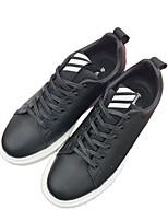 Недорогие -Муж. обувь Искусственное волокно Зима Удобная обувь Кеды для Повседневные Белый Черный Красный