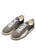 Недорогие -Муж. обувь Полиуретан Весна Удобная обувь Кеды для Повседневные Черный Серый Красный