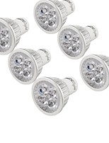 abordables -YouOKLight 6pcs 4W 320lm GU10 Spot LED 4 Perles LED LED Haute Puissance Décorative Blanc Chaud 85-265V
