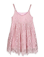 cheap -Girl's Daily Holiday Solid Dress, Cotton Nylon Spring Summer Sleeveless Simple Active Blushing Pink