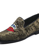 cheap -Men's Shoes Suede Spring Fall Comfort Loafers & Slip-Ons for Casual Black Dark Grey Blue