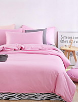 cheap -Duvet Cover Sets Solid 3 Piece Poly/Cotton Polyster Yarn Dyed Poly/Cotton Polyster 1pc Duvet Cover 1pc Sham 1pc Flat Sheet