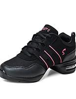 cheap -Women's Dance Sneakers Tulle Sneaker Splicing Flat Heel Customizable Dance Shoes Black