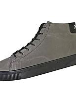 Недорогие -Муж. обувь Нубук Зима Удобная обувь Кеды для Повседневные Черный Серый Хаки