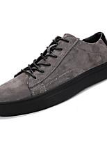 Недорогие -Муж. обувь Нубук Весна Осень Удобная обувь Кеды для на открытом воздухе Черный Бежевый Серый Военно-зеленный Хаки