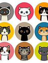 preiswerte -Tiere Aufkleber, Etiketten und Schilder - 1 Kreisförmig Aufkleber Ganzjährig