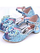 cheap -Girls' Shoes Sparkling Glitter Spring Summer Flower Girl Shoes Novelty Comfort Sandals Rhinestone Bowknot Buckle for Wedding Dress Blue
