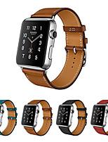 abordables -Ver Banda para Apple Watch Series 3 / 2 / 1 Apple Correa de Cuero Cuero Auténtico Correa de Muñeca