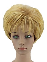 cheap -Synthetic Wig Curly Layered Haircut Natural Hairline Blonde Women's Capless Natural Wigs Cosplay Wig Short Synthetic Hair
