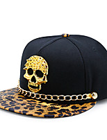 cheap -Unisex Party Casual PU Cotton Polyester Sun Hat Baseball Cap - Leopard, Rivet